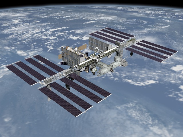 NASA artist rendering of completed International Space Station