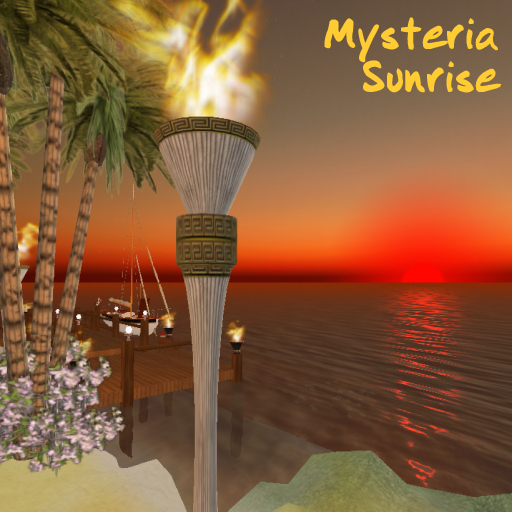 Sunrise over Mysteria in Second Life