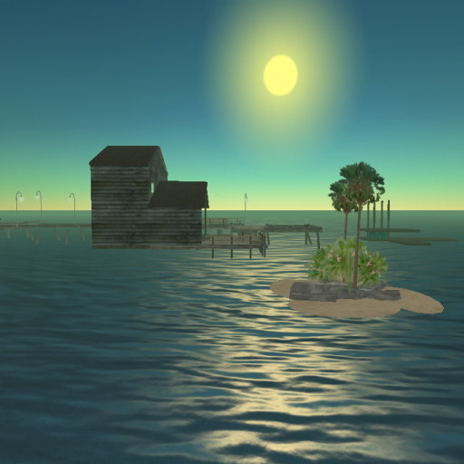 Salt Box Fishing Cabin in Second Life