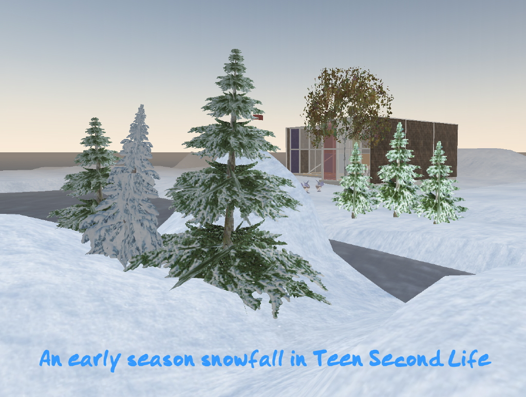 An early season snowfall in Second Life