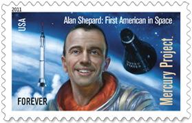 Alan Shepard Postage Stamp
