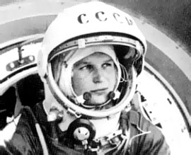 Valentina Tereshkova in spacesuit