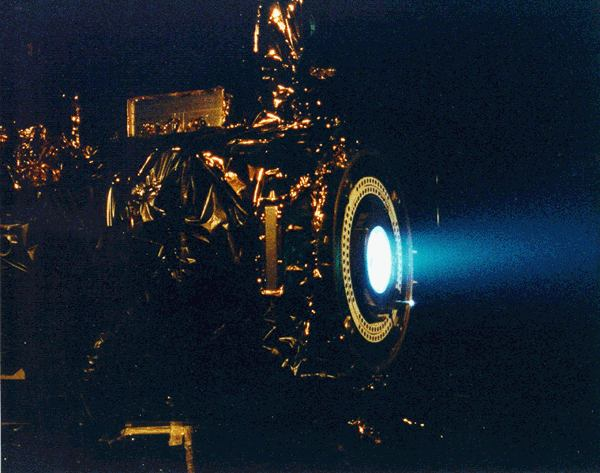NASA image of the Deep Space 1 ion engine