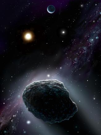 NASA artist's visualization of a comet nucleus