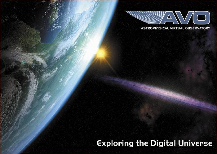 ESA artist concept of Astrophysical Virtual Observatory