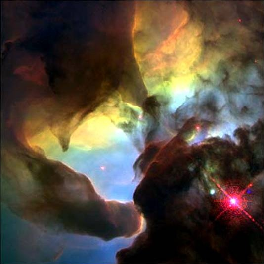 Hubble Space Telescope image of the Lagoon Nebula