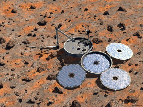 European Space Agency artist's conception of the Mars Express Beagle 2 Lander on the Red Planet