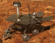 NASA artist concept of Mars exploration Rover on Mars