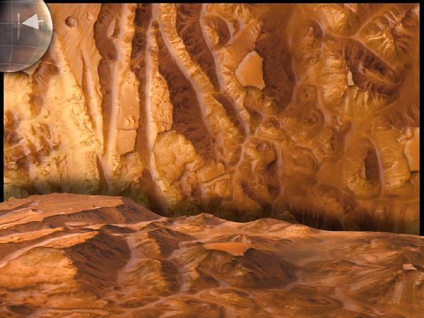 Mars Express photo of of Valles Marineris, the Grand Canyon of Mars