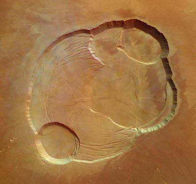 Mars Express photos of the South Pole ice cap
