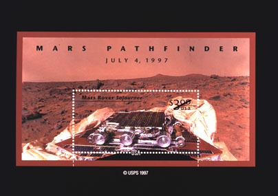 Mars Pathfinder on a U.S. Postage Stamp