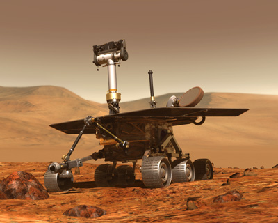 NASA artist concept of 2003 Mars Exploration Rover