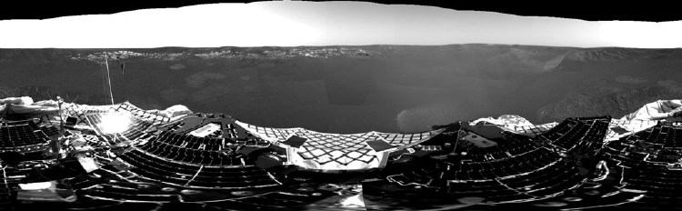 Opportunity's first panoramic photo