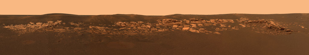 Opportunity's photo of a bedrock outcrop