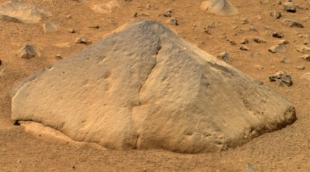 NASA photo of rock Adirondack by rover Spirit on Mars