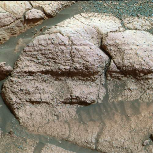 NASA photo of rock El Capitan  by rover Opportunity on Mars
