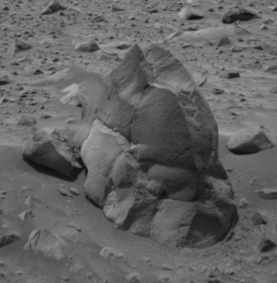 NASA photo of rock Humphrey by rover Spirit on Mars