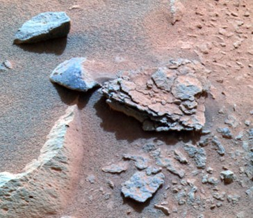 NASA photo of rock Mimi by rover Spirit on Mars