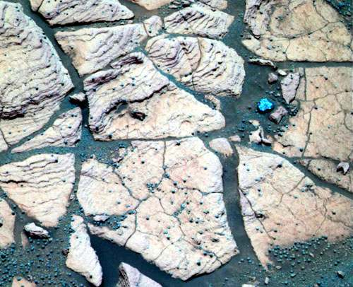 NASA photo of rock Shoemaker's Patio by rover Opportunity on Mars