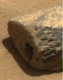 NASA photo of rock Sushi by rover Spirit on Mars