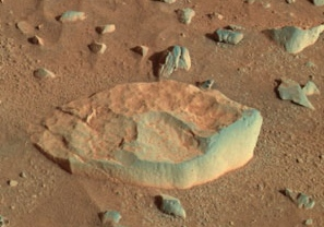 NASA photo of rock White Boat by rover Spirit on Mars