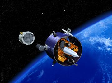 NASA artist concept of Lunar Prospector