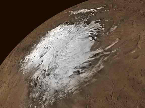 Mars warming NASA image