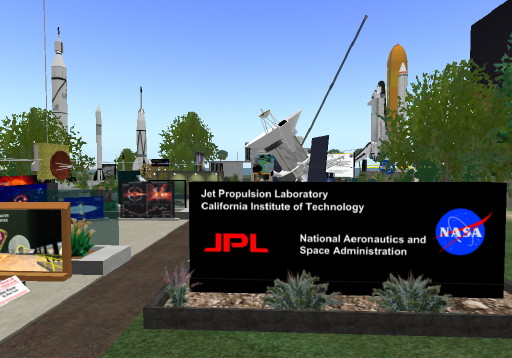 NASA JPL Explorer Island entrance
