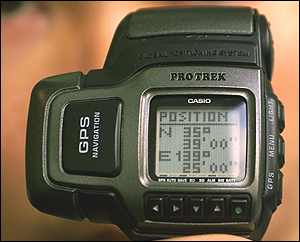 Casio GPS receiver wristwatch