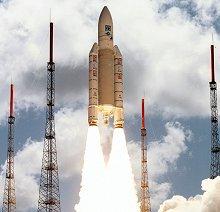 Launch of ESA's Ariane 504 flight 119