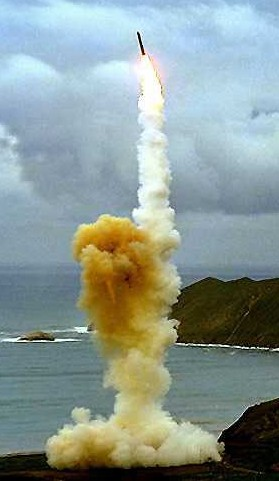 USAF photo of Minuteman-3 ICBM launch