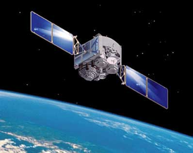 a satellite in orbit