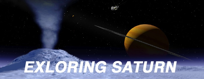 Exploring Saturn nameplate