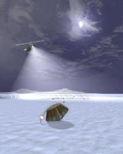 NASA artist conception of the Stardust sample return capsule landing in Utah