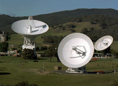 NASA photo of Deep Space Network antennas