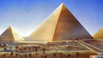 Painting of Egyptian pyramids