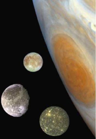 Jupiter moons Callisto Ganymede Europa