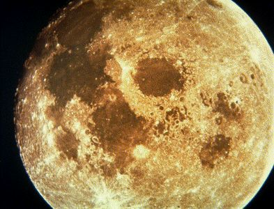 The Moon's pockmarked face