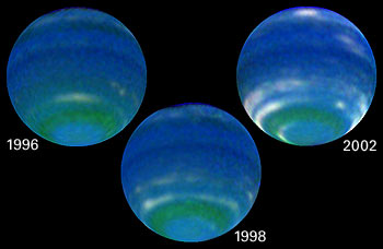 NASA Voyager 2 Image of the planet Neptune