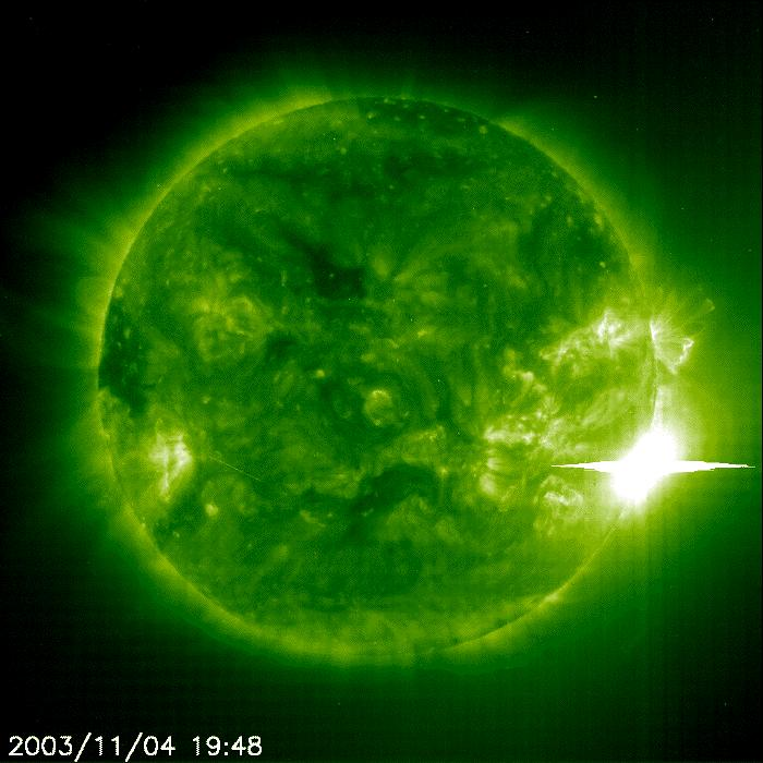 Largest solar flare ever recorded