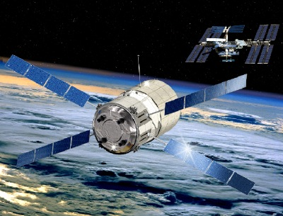 ESA art depicts ATV approaching space station